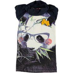 MILA Panda SS dress Girls - The little yellow bow by it's ear just slays me.