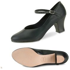 Women's Black Jr. Versatile Character Shoes ($41) ❤ liked on Polyvore featuring shoes, black ballerina shoes, wide width shoes, ballet shoes, ballerina shoes and black ballet shoes