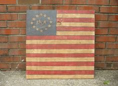 American Flag Sign Primitive USA Americana Flag by steponitart, $75.00
