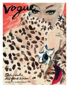 Vogue Cover - November 1939 Poster Print  by Carl