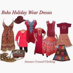 boho chic: Bohemian Style Casual Clothing