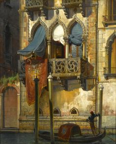 A painting of Desdemona's house on the Grand Canal