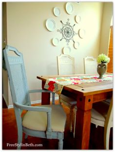 Annie Sloan Chalk Paint. Old White + Graphite. Dining Room Chairs.