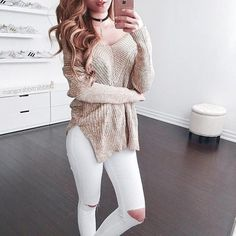 40 Winter Outfits For This Christmas Holidays Teenage Outfits, Outfits For Teens, Trendy Outfits, Winter Outfits, Summer Outfits, Cute Outfits, Fashion Outfits, Fashion Trends, Knit Sweater Dress