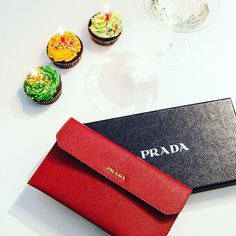 And the winner of the pochette in our birthday giveaway is. Card Case, Giveaway, Prada, Congratulations, Wallet, Photo And Video, Birthday, Birthdays, Purses