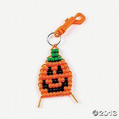 """""""Pumpkin Pony Beads keychain"""""""