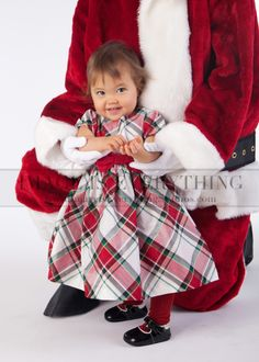 Santa and Baby ~ NJ Baby and Santa Christmas Portraits ~ Image Is Everything Studios