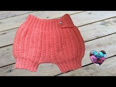 Sarouel bébé crochet très facile / Pantalon corto bebe tejido a crochet - YouTube