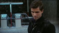 Nino Castelnuovo in The Umbrellas of Cherbourg (Jacques Demy, Umbrellas Of Cherbourg, Jacques Demy, Catherine Deneuve, Gas Station, Man Crush, Old Hollywood, Crushes, Guys, My Favorite Things