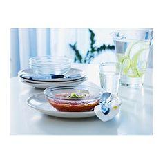 IKEA - ОППЕН, Миска, Можно использовать в СВЧ-печи для размораживания и разогревания пищи.Можно мыть в посудомоечной машине.