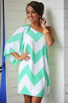 Wild Wide One Shoulder Chevron Dress ~ I have this one and always get compliments anytime I wear it! ❤❤