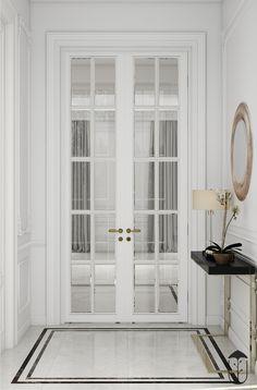 Flawlessness style on Behance Door Design Interior, Home Room Design, Living Room Designs, Halls, Floor Design, House Rooms, Architecture Design, Room Decor, Behance