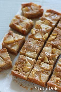 brown butter pear bars @Laura | Tutti Dolci