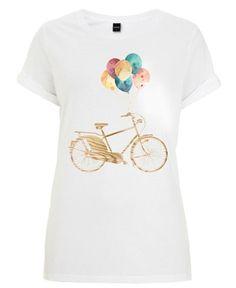 Bike & Balloons als Frauen T-Shirt von Wood + Ink | JUNIQE