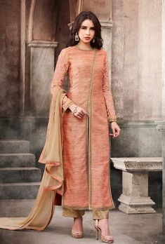 India Emporium is a one stop ethnic wear online store for all your online saree shopping, designer wear, salwar kameez, bridal wear, lehenga cholis & artificial jewellery needs. Abaya Fashion, Fashion Pants, Indian Fashion, Fashion Dresses, Frock Fashion, Fashion 2018, Kurti Designs Party Wear, Salwar Designs, Blouse Designs