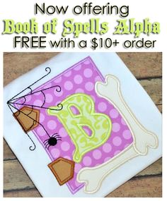 Hooked On Applique book of spells alpha