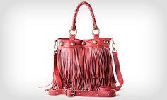 Coisas que me contaram: Bolsa com franja...Adoro!!!