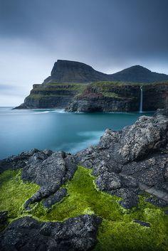 Faroe Islands, Denmark Beneath the Steps by Adam Burton