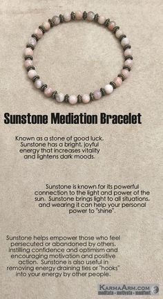 Known as a stone of good luck, Sunstone has a bright, joyful energy that increases vitality and lightens dark moods.