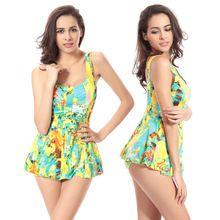 888a05988e9 Bikini Swimwear Vest One-piece suits Swimsuit Summer Women s Swimwear Dress  Backles Waisted Swim suit Straps 3 Color XXXL