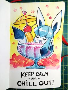 160408 Chill Out Glaceon by fablefire on DeviantArt