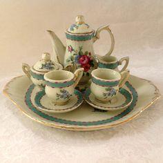 Vintage miniature Noritake 'Decor a Sevres' tea set.