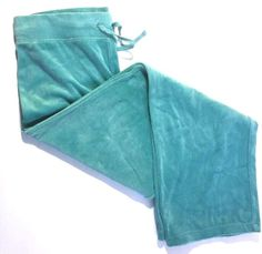 Talbots Pants Small Velour Drawstring Waist Aqua Blue NWT Pull On Stretch Soft #Talbots #CasualPants