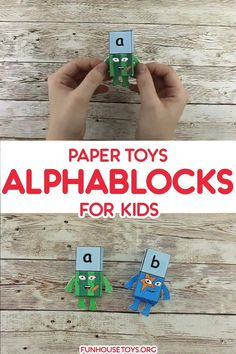 Building words with our new alpablocks papertoys will be double fun. Preschool Worksheets, Toddler Preschool, Preschool Crafts, Crafts For Kids, Fun Printables For Kids, Calendar Numbers, Kindergarten Literacy, Paper Toys, Book Activities