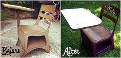 Upcycle An Old Desk Into A Child's Art Station!