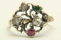 Giardinetti flower ring, ca. 1790