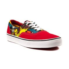 Vans Era Iron Man Skate Shoe in Red Gray at Journeys Shoes. Available exclusively at Journeys!