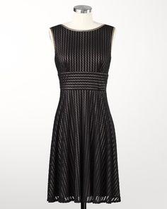 Striped Flair Dress