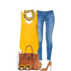 A fashion look from July 2015 featuring Zara tops, Zara jeans and Christian Louboutin pumps. Browse and shop related looks.