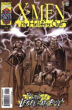 X-MEN: THE HELLFIRE CLUB, SERIE LIMITADA DE 4 NÚMEROS, COMPLETA, MARVEL, 2.000. USA.