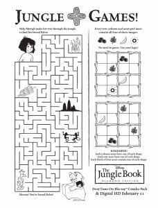 jungle book activities 228x300 New Jungle Book Disney Printable Activities for Kids