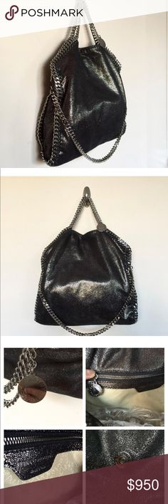 Stella McCartney Falabella Shaggy Deer Bag Excellent condition. Carried a couple times. Metallic black. Dustbag included. Stella McCartney Bags