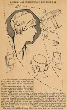 The Midvale Cottage Post: Home Sewing Tips from the 1920s Sew Yourself a Felt Cloche!