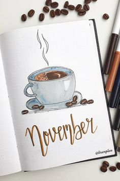 creative bullet journal monthly cover ideas for November December Bullet Journal, Bullet Journal Cover Ideas, Bullet Journal Lettering Ideas, Bullet Journal Notebook, Bullet Journal Aesthetic, Bullet Journal School, Bullet Journal Themes, Journal Covers, Bullet Journal Inspiration