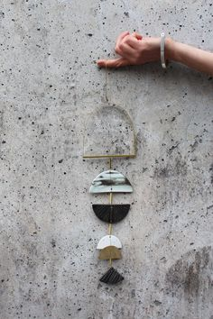 Image of Brass + Clay Wall Hanging No 2