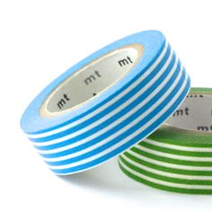 Sky Blue Border Stripe - mt Washi Tape