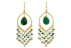 Emerald Gypsy Earrings