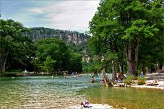 Garner State Park  Best camping in Texas! I grew up going here every summer! Great Family Get a way! everything from RV, Cabins, shelters, and tent camping clean bathrooms, games, jukebox dances every night at the pavillian, paddle boats, hicking, caves to explore rope swings boulders to lay out on or jump off of!  Heaven on Earth!