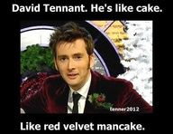 Haha I've never heard that description but red velvet man cake seems perfectly acceptable :)