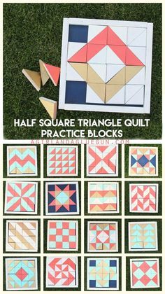 half square triangle quilt practice blocks--Great for playing around with quilt layouts!