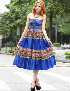 Villatic Floral Printed Lace-Up Utility Dress, Shop online for $11.70 Cheap Dresses code 717295 - Eastclothes.com