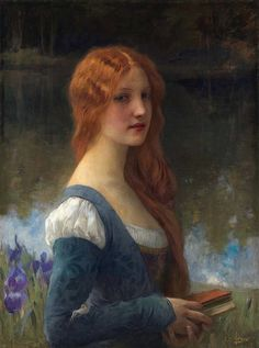 Charles Amable Lenoir 'To the Return of Times Lost' century HI RES. Charles Amable Lenoir [French Acedemic artist, Bouguereau's pupil Oil on canvas 79 x 59 cm Private collection, France Art And Illustration, Renaissance Paintings, Renaissance Art, Victorian Paintings, Renaissance Costume, Art Magique, Lenoir, Art Occidental, Pre Raphaelite