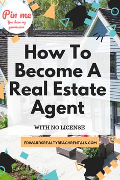 Do you thinking you need a license to become a real estate agent? Get all hints on how to become a real estate agent still with no license. Selling Real Estate, Real Estate Investing, Need A Loan, Rent To Own Homes, Real Estate License, Realtor Agent, Rental Decorating, Decorating Tips, Jamaica Travel