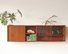 Two Mid Century Floating Cabinets Cupboard Wall Unit Mid Century Decor, Mid Century House, Mid Century Furniture, Mid Century Design, Pick Up, Modern Cabinets, Media Cabinets, Floating Cabinets, Retro Home