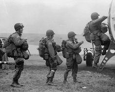 Paratroopers board a C-47 Skytrain for Market Garden, 17 September 1944