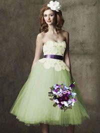 Crocheted wedding dress